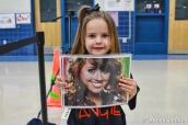 Little Fans were waiting for Angie to appear at the school