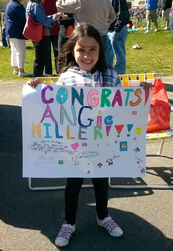 Young fans made signs for Angie