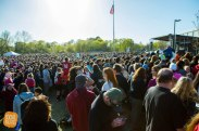 It was reported that 15,000 Angie fans showed up to support her at Beverly High School.