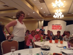 """Break out session """"How to Pitch the Media"""" with Coach Jenn Lee."""