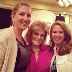 (Left to Right) My business partner, Julia, Tory Johnson and myself catching up after the conference.